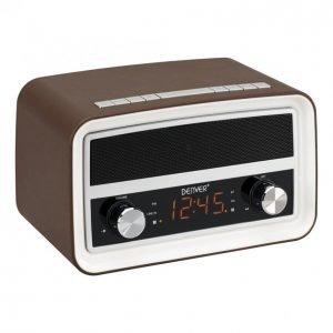 Denver Crb-619 Radio Kello Bluetooth Ruskea