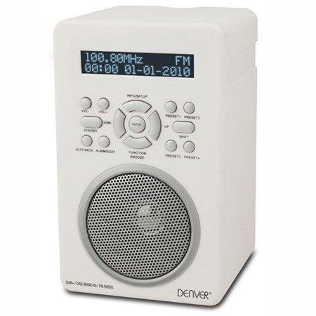 Denver DAB-43PLUS DAB/FM-radio Valkoinen