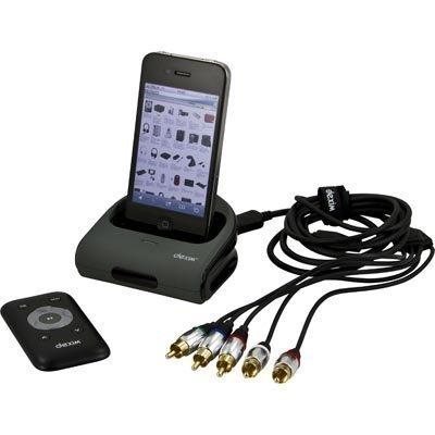 Dexim telakointiasema iPhone/iPodille 1 5m kaapeli 2xRCA 3xRCA