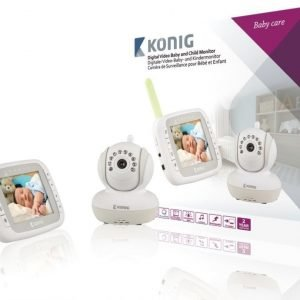 Digitaalinen videoitkuhälytin 3 5 tuuman LCD-näyttö 2 4 GHz