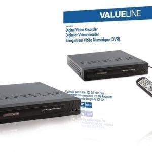Digitaalinen videotallennin sisäisellä 500 Gt:n kiintolevyllä