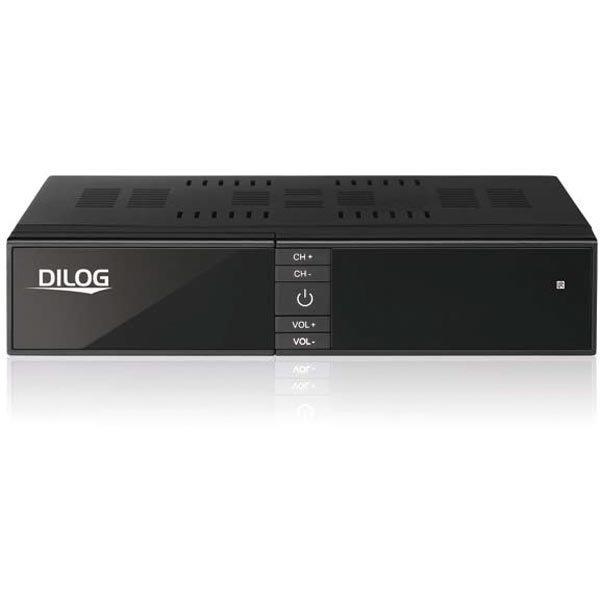 Dilog Digiboksi DVB-C ja DVB-T2 HDMI USB RCA/COAX musta
