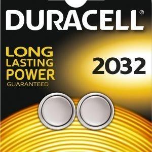 Duracell 2032 Elektroniikkaparisto 2 Kpl / Pkt