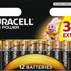 Duracell Plus Power Aa Paristo 12 Kpl / Pkt