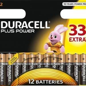 Duracell Plus Power Aaa Paristo 12 Kpl / Pkt