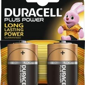 Duracell Plus Power D Paristo 2 Kpl / Pkt