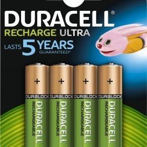 Duracell Staycharged 2400 Mah Aa Ladattava Paristo 4 Kpl / Pkt
