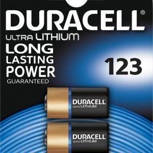 Duracell Ultra Photo 123 Paristo 2 Kpl / Pkt