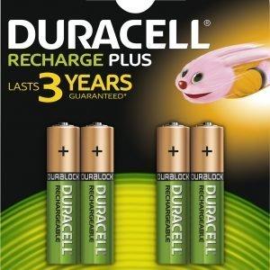 Duracell Value 750 Mah Aaa Ladattava Paristo 4 Kpl / Pkt