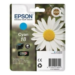 EPSON 1-Pack Cyan 18 Claria Home ink