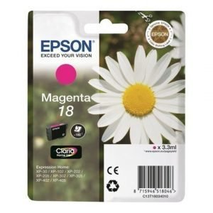 EPSON 1-Pack Magenta 18 Claria Home ink