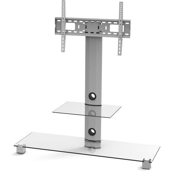 EPZI TV-taso lasi/alumiini max 50kg hopea