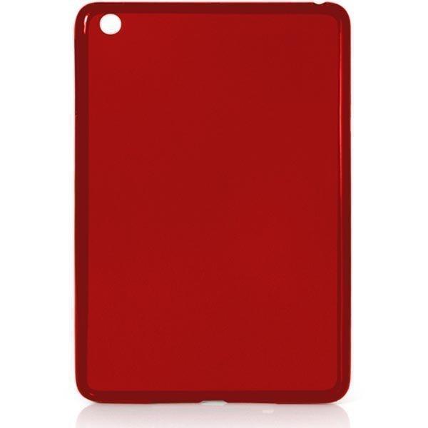 EPZI lämpömuovikuori iPad minille/2/3 mattapinta takana osittain läpinäkyvä punainen