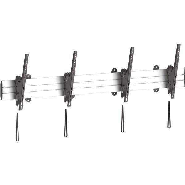 """EPZI seinäkiinnike 2 näytölle 45-55 max 90kg VESA musta/hopea"""""""