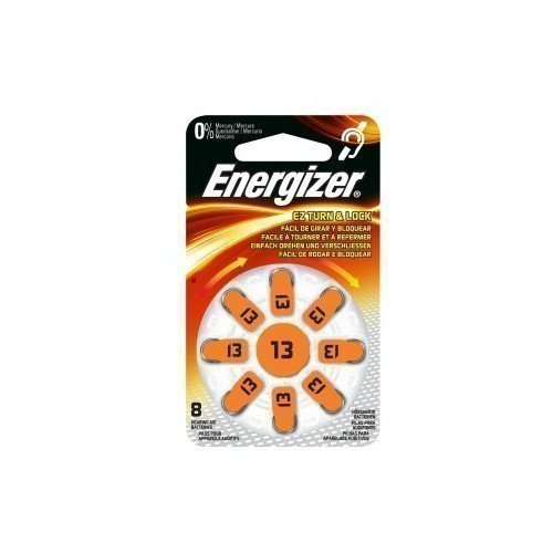 Energizer Cell Zinc Air 13 Hearing 8-pack