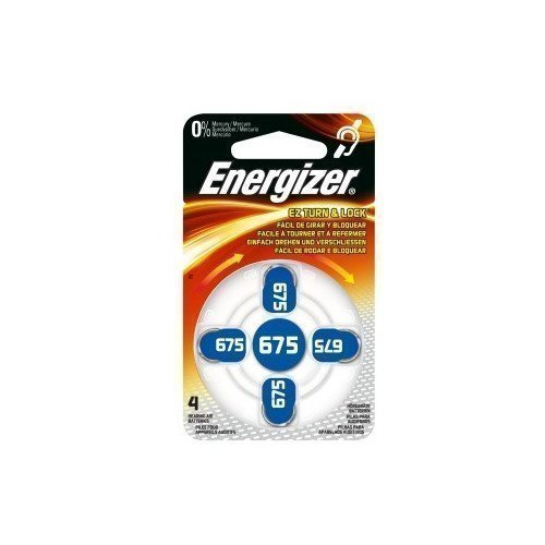 Energizer Cell Zinc Air 675 Hearing 4-pack
