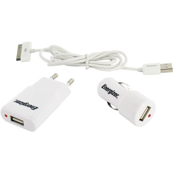 Energizer Hightech 3in1 charger 1USB / 1 Amp for IPHONE / IPOD