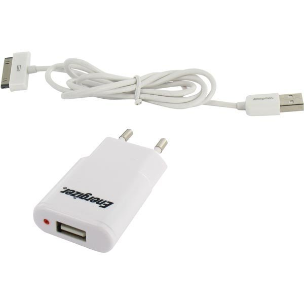 Energizer Hightech Travel charger 1USB / 1 Amp iPhone / iPod