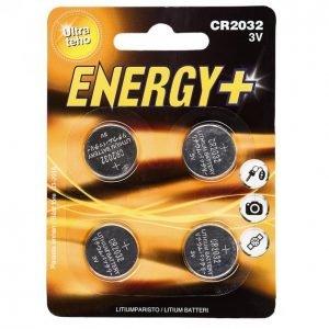 Energy+ Cr2032 Lithium Nappiparisto 4 Kpl