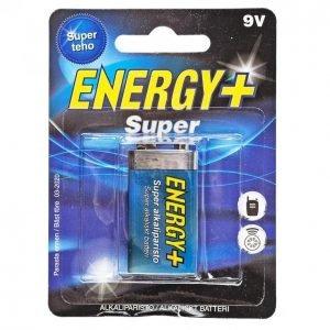 Energy+ Super 9 V Alkaliparisto 1 Kpl