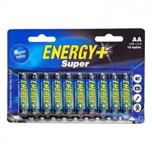 Energy+ Super Aa Alkaliparisto 10 Kpl