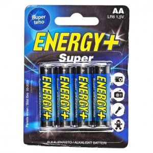Energy+ Super Aa Alkaliparisto 4 Kpl