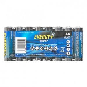 Energy+ Super Aa Alkaliparisto 8 Kpl