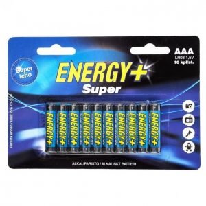 Energy+ Super Aaa Alkaliparisto 10 Kpl