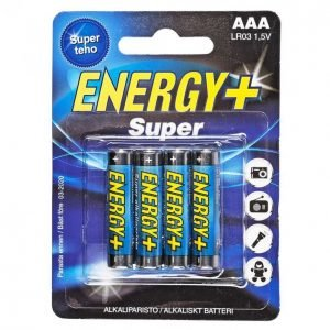 Energy+ Super Aaa Alkaliparisto 4 Kpl