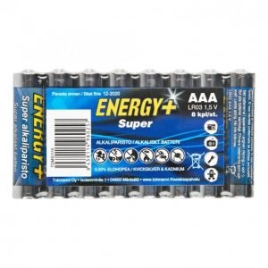 Energy+ Super Aaa Alkaliparisto 8 Kpl