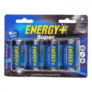 Energy+ Super D Alkaliparisto 4 Kpl