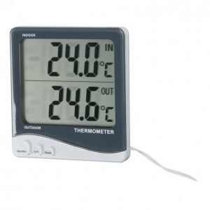 Energy+ Tw1038 Digitaalinen Sisälämpömittari / Ulkolämpömittari