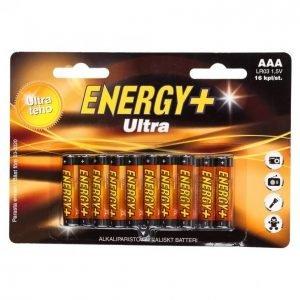 Energy+ Ultra Aaa Alkaliparisto 16 Kpl