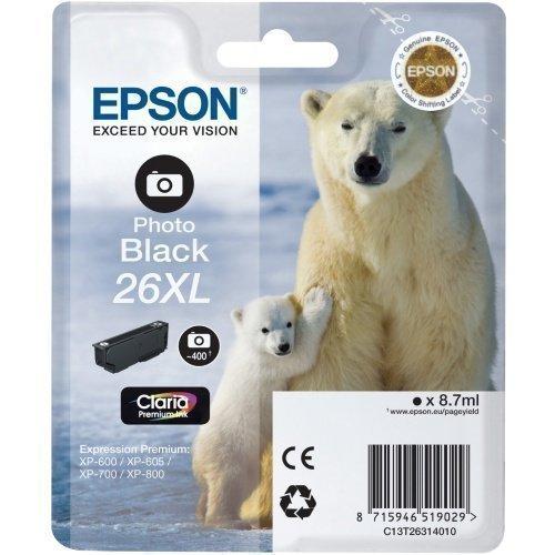 Epson C13T26314010 Black 26XL Claria Premium Ink