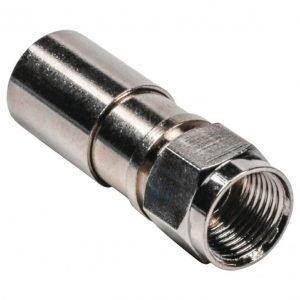 F-liitin kompressoitava halkaisija 5 50 mm metallinen 10 kpl