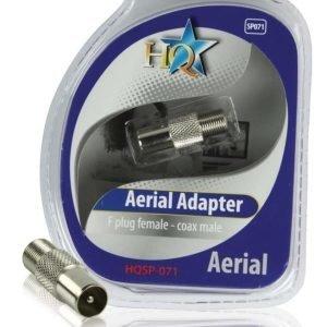 F-liitin naaras - Coax uros adapteri