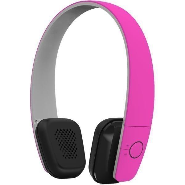 F1 Vita Bluetooth-kuulokkeet mik BT 4.0 kokoontaitettava vaal.pun