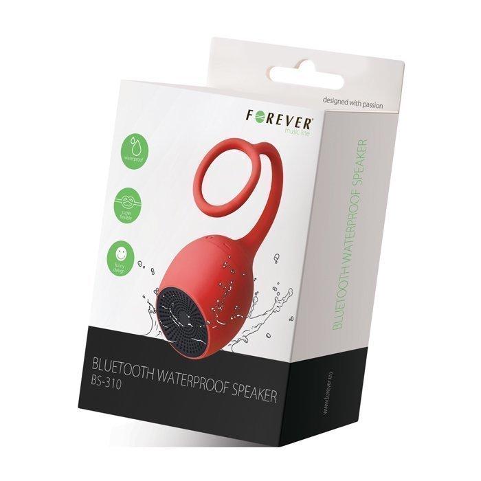 Forever BS-310 Vedenkestävä Bluetooth kaiutin - Punainen