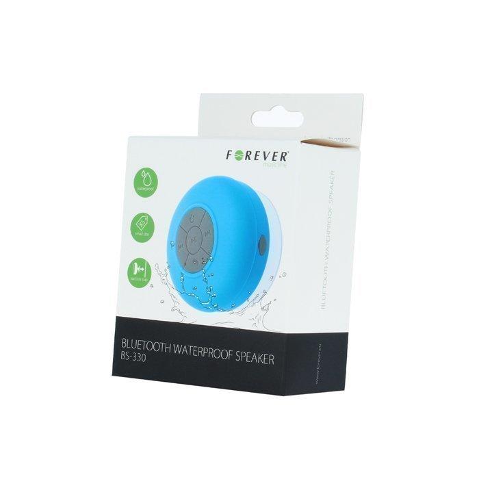 Forever BS-330 Vedenkestävä Bluetooth kaiutin imukupilla - Sininen