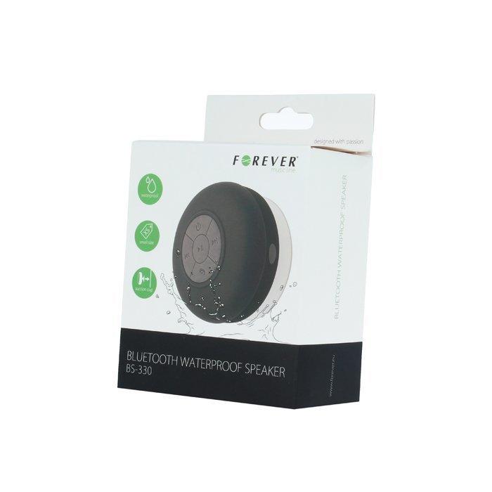 Forever BS-330 Vedenkestävä Bluetooth kaiutin imukupilla - Valkoinen
