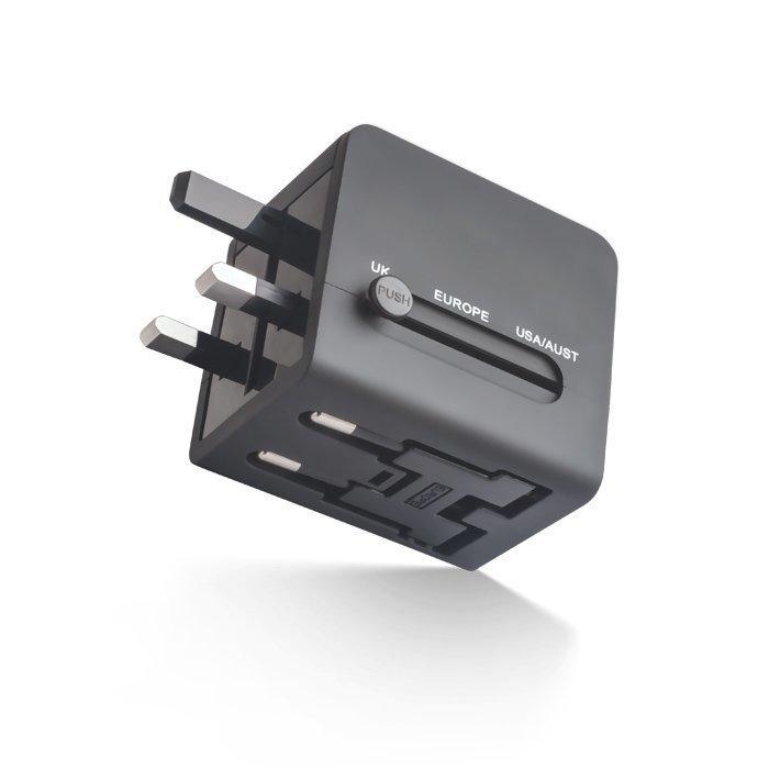 Forever Matka-adapteri USB-virtalähteellä - Musta