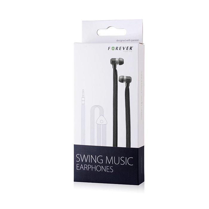 Forever Swing Music Nappikuulokkeet - Musta