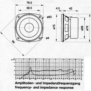 "Full-Range Driver 8 cm (3.3) 8 Ohm"""