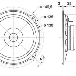 """Full-Range Speaker 13 cm (5)"""""""