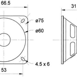 """Full-Range Speaker 6.5 cm (2.5) 8 Ohm"""""""