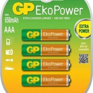 GP EkoPower 650mAh R03 4-Pack