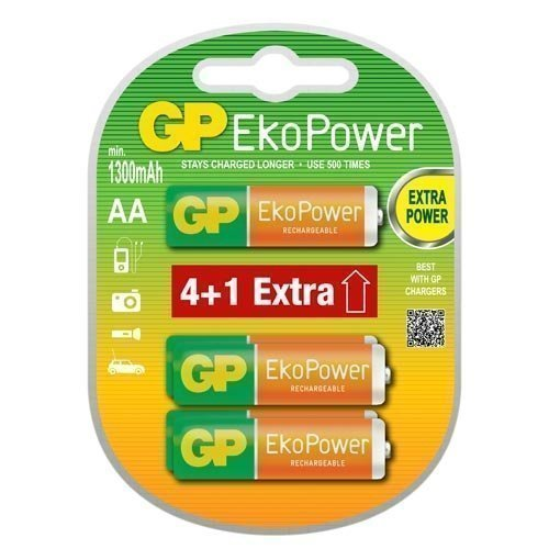 GP NIMH AA EkoPower 4+1-pack