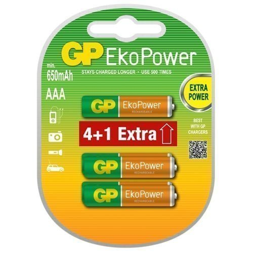GP NIMH AAA EkoPower 4+1-pack