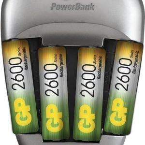 GP PowerBank Quick 3 + 4stk R6 2600mAh