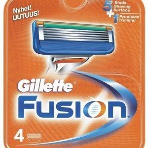 Gillette Fusion vaihtoterät 4 kpl